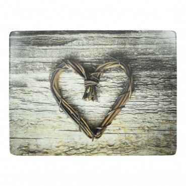 Luxe Placemats hart twijg 4*