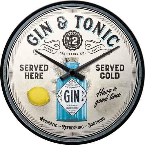 Wall Clock Gin & Tonic Served Here