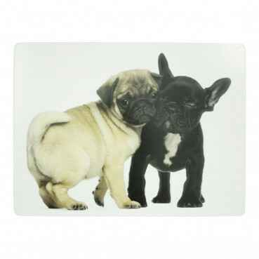 Luxe Placemats mops&franse bulldog 4*