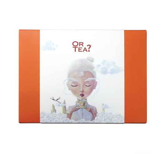 OR TEA? Double Happiness XL - Long Life Brows Thee in blik (50g) + Wit mok