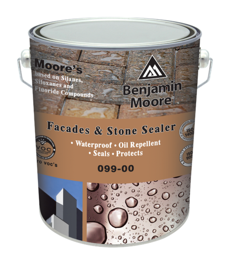 MOORE'S ® Facades and Stone Sealer  based on Silanes, Siloxanes and Fluorades Compounds Water Based 099 For Interior/Exterior Use