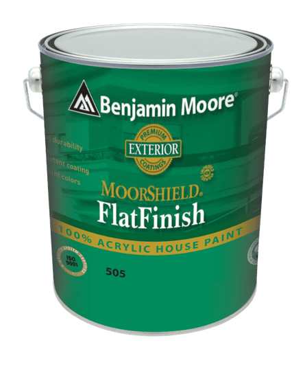 MOORSHIELD® 100% Acrylic House Paint Flat Finish 505 White