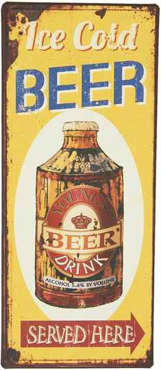 Mancave Toys vintage sign Ice cold beer