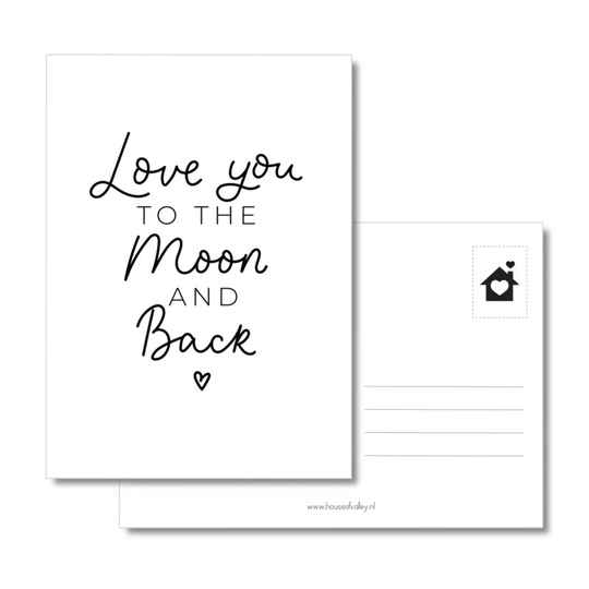 Kaart - Love you to the moon and back