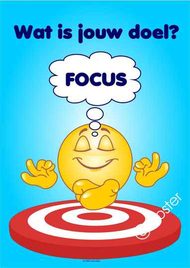 Poster: Wat is jouw doel? Focus