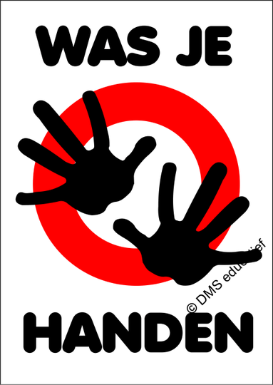 Poster: 'Was je handen' - A3