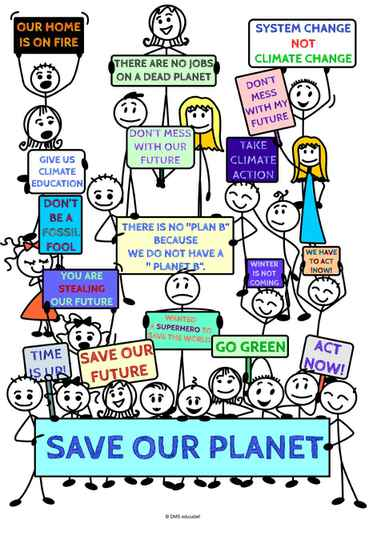 "Klimaat poster: There is no ""Plan B"" because we do not have a ""Planet B"""