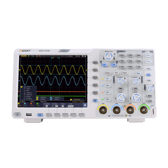 OWON XDS3104E 100MHz 4 Channel 1GS/s Oscilloscope