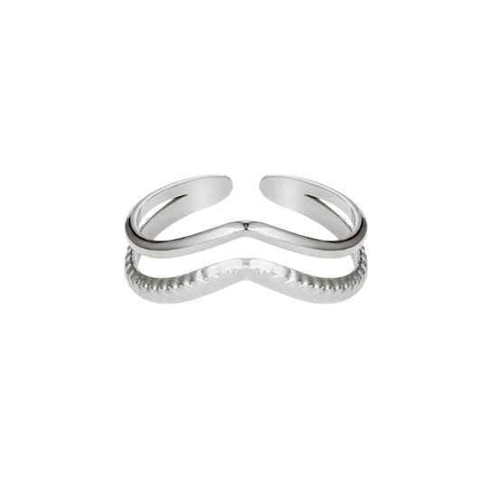 Ring Wave Zilver