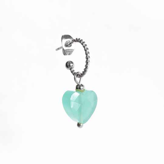 Oorbel Candy Turquoise Blue Zilver (ONE PIECE)