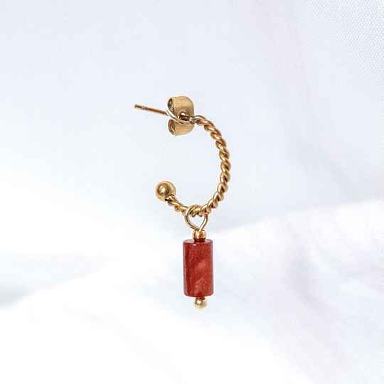 Oorbel Ruby Red Shell Goud (ONE PIECE)