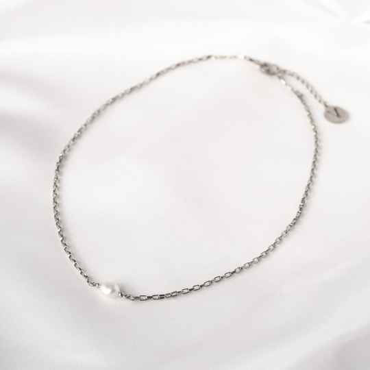 Ketting Only Pearl Zilver