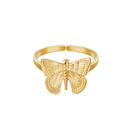 Ring Pretty Butterfly Goud