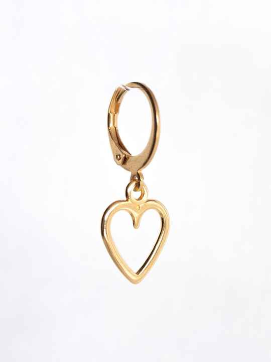 Oorbel Just Heart Goud (1 piece)
