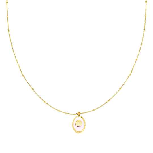 Ketting Pink Shell Goud
