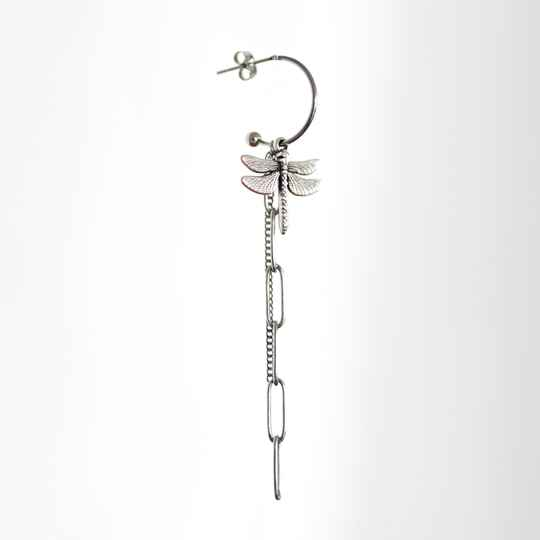 Oorbel Dragonfly Zilver (ONE PIECE)