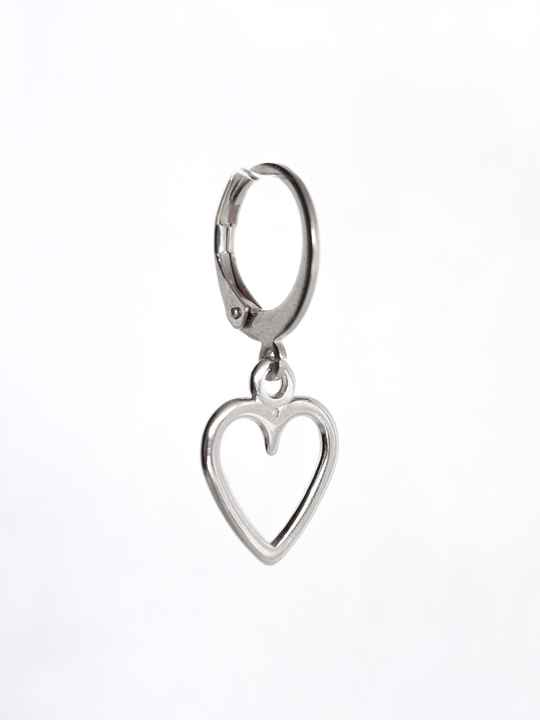 Oorbel Just Heart Zilver (1 piece)
