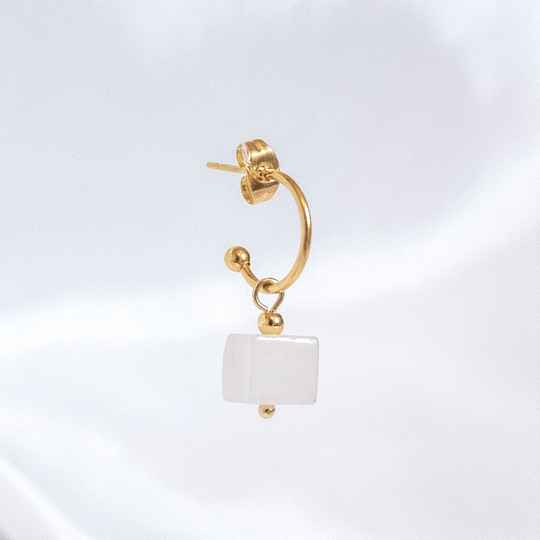Oorbel Cube Ivory (ONE PIECE)