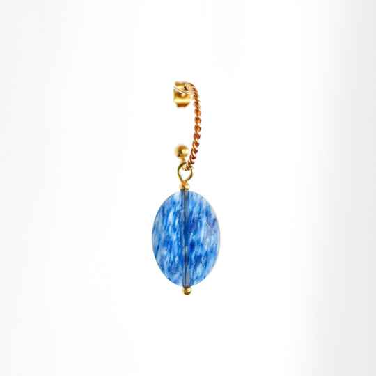 Oorbel Ocean Blue Gem Goud (ONE PIECE)