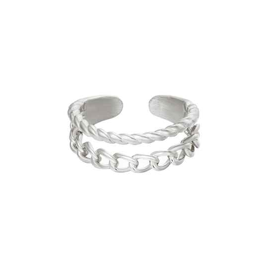 Ring Double Trouble Zilver