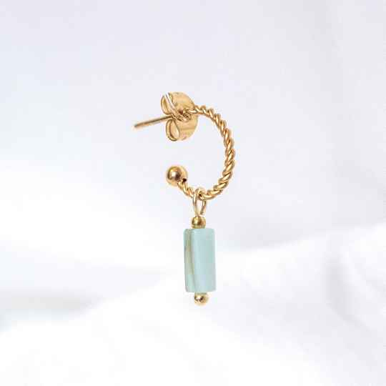 Oorbel Turquoise Shell Goud (ONE PIECE)