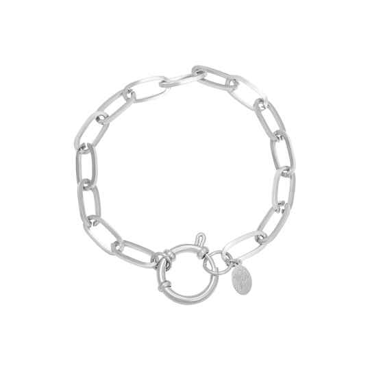 Armband Chain Roos Zilver