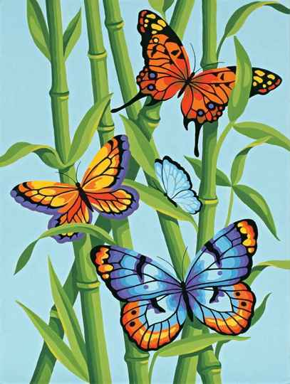 Butterfly and bamboo