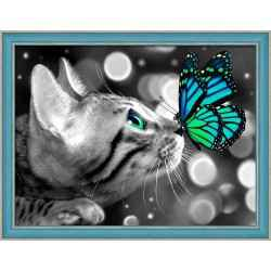 Bengal Cat and Butterfly