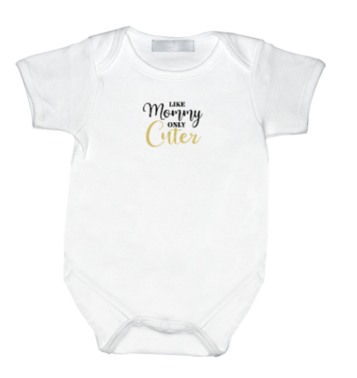 Rompertje met print: Like Mommy only cuter