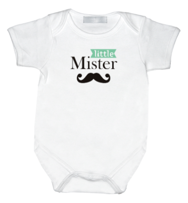 Rompertje met print: Little mister