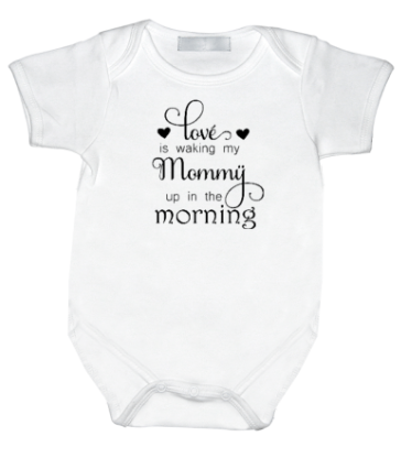 Rompertje met print : Love's waking my mommy