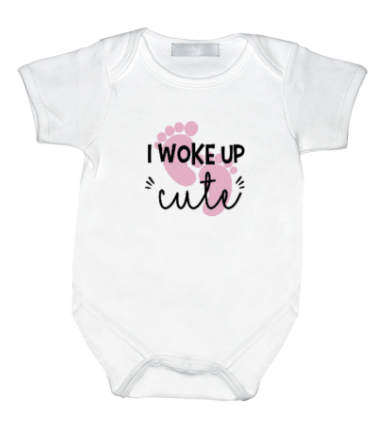 Rompertje met print: I woke up cute