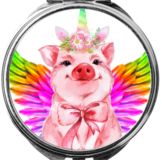 Make up spiegeltje Piggy Unicorn