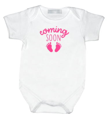 Rompertje met print: Coming soon Girl