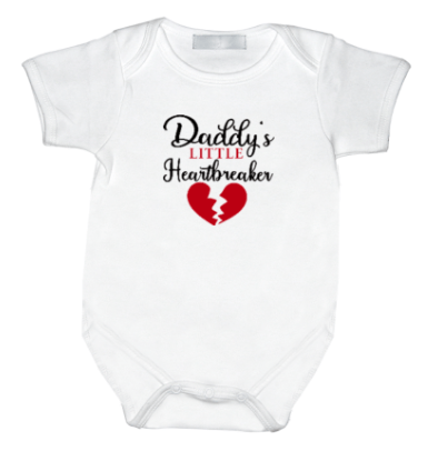 Rompertje met print: Daddy's little heartbreaker