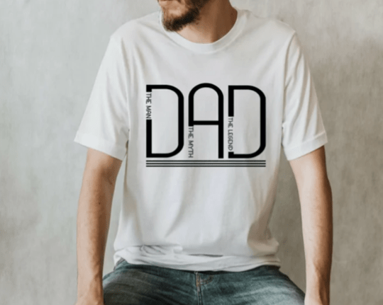 T-shirt Dad the man the mythe the legend
