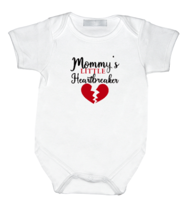Rompertje met print: Mommy's little heartbreaker