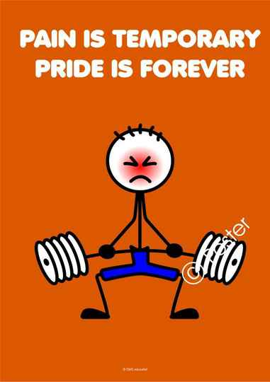 Poster 'Pain is temporary, pride is forever'