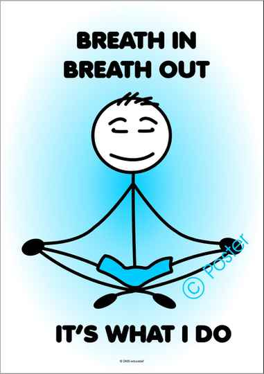 Poster 'Breath in, breath out'