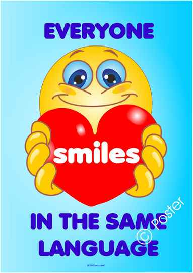 Poster 'Everyone smiles in the same language'