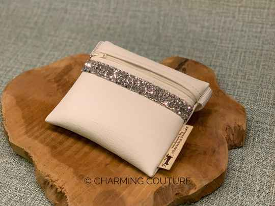 Treat Bag - White with Silver Strass Stones