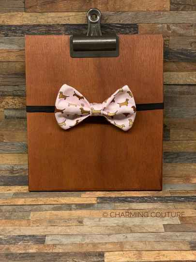 Bow Tie Doxie Pink