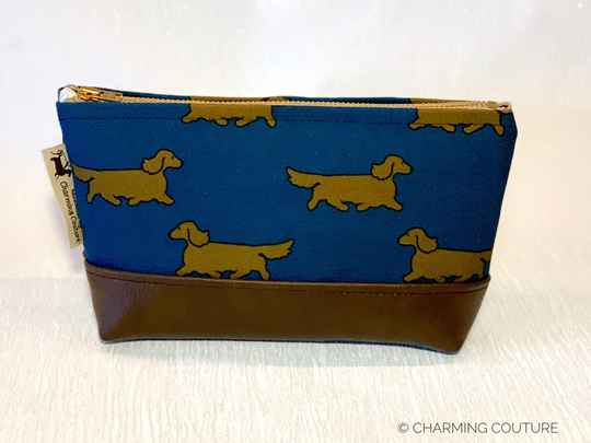 Toiletry Bag - Long haired dachshunds