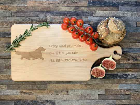 Serving Board Long-haired Dachshund
