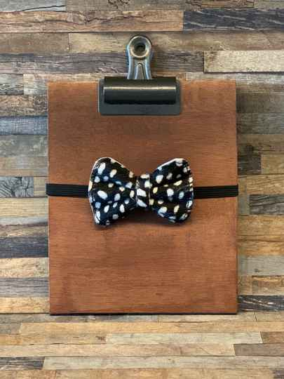 Luxury Leather Bow Tie - Polka Dots