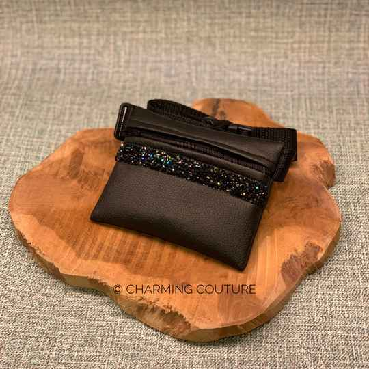 Treat Bag - Black with Black and Blue Strass Stones