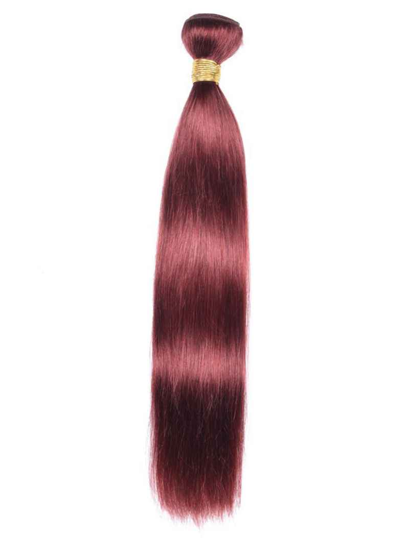 RED WINE STRAIGHT INDIAN HAIR