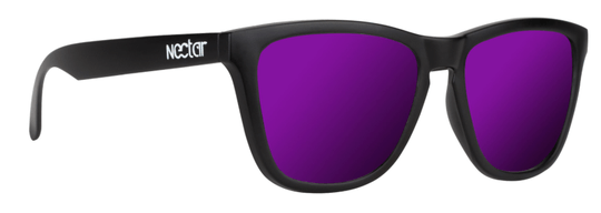 Crux - Black Frame - Purple Lens