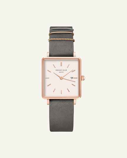 The Boxy Grey Rose gold 33mm