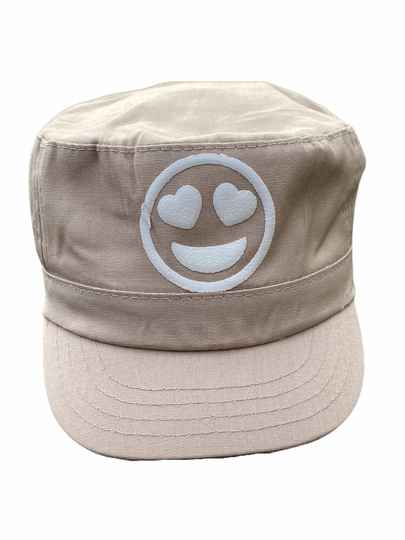 * NEW * Smiley Hearts Military Cap